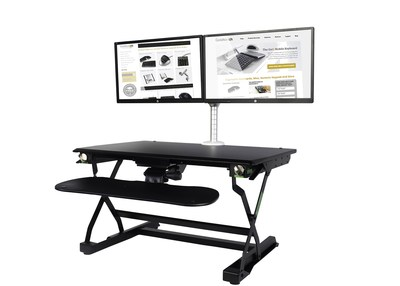 Affordable and easy-to-use adjustable standing desk converter. The EasyLift Desk is the latest addition to Goldtouch's ergonomic line of office equipment.