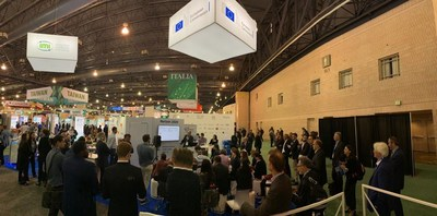 Pitch sessions at the EU Pavillon on the BIO 2019 floor