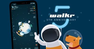 "Gamification fitness APP ""Walkr"" has been online for five years with 6 millions downloads globally."