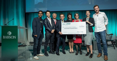Babson MBA graduate Joanna Geisinger (second from right) and TORq Interface wins $100K in Babson College ePitch Competition