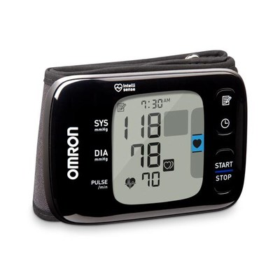 The newly redesigned Omron 7 Series Wireless Wrist Blood Pressure Monitor allows users to store, track and share readings with their physician.