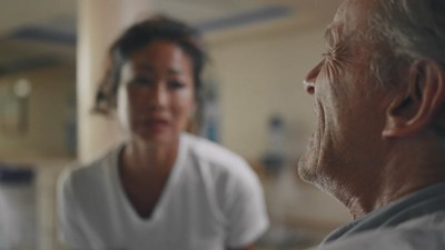 A scene from a video that is part of a new campaign to optimize pain assessment and management in people with severe dementia who live in long-term care. Courtesy: Jeremy Ratzlaff, Lampblack Studios (CNW Group/AGE-WELL Network of Centres of Excellence (NCE))