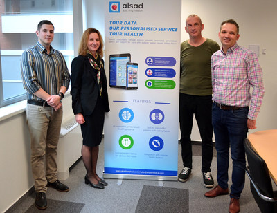 ALSAD team members with Attila, the kidney transplant patient (PRNewsfoto/ALSAD Medical)