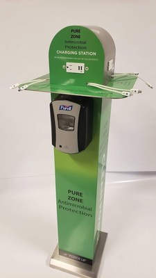 Pure Zone Antimicrobial Protection Charging Station